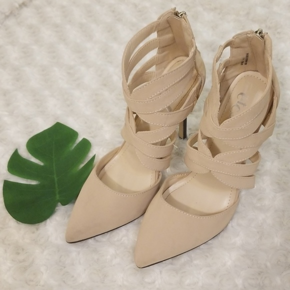 137d8bb8db6 RUE21 Nude strappy faux suede heels